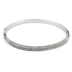 Fashion micro-small silver crystal bracelet